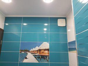 баня, синя, ремонт на баня, плочки баня